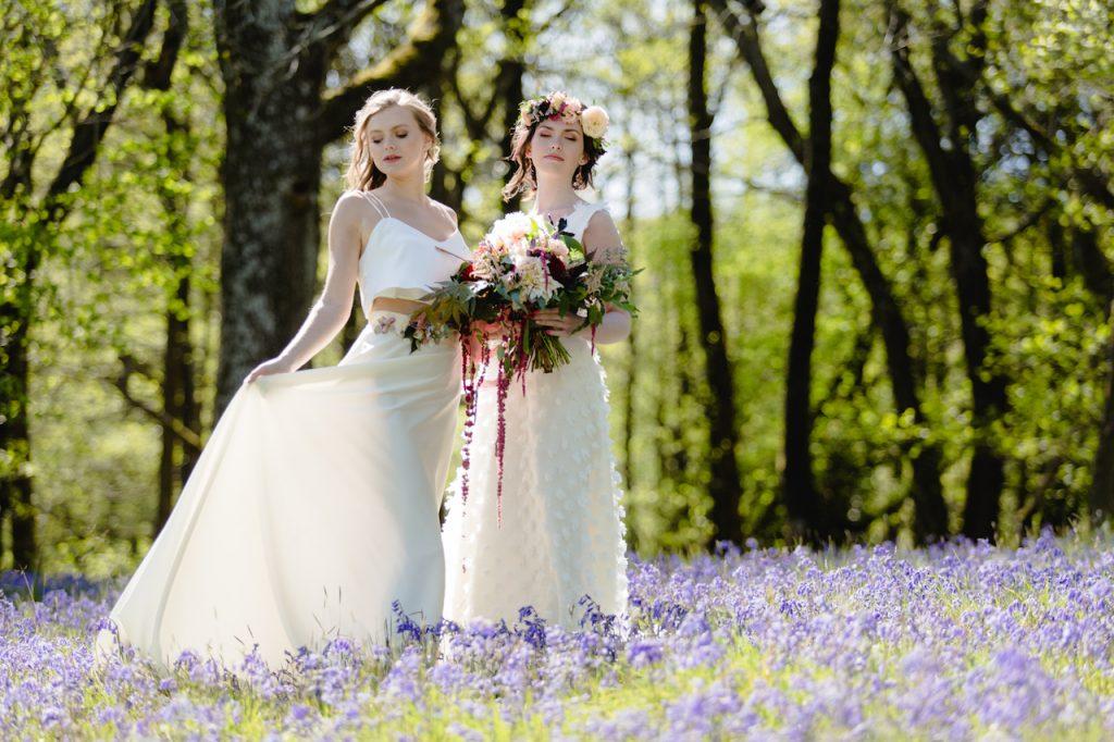 summer wedding two brides