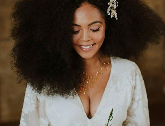 10 Natural Hair Ideas for Black Brides