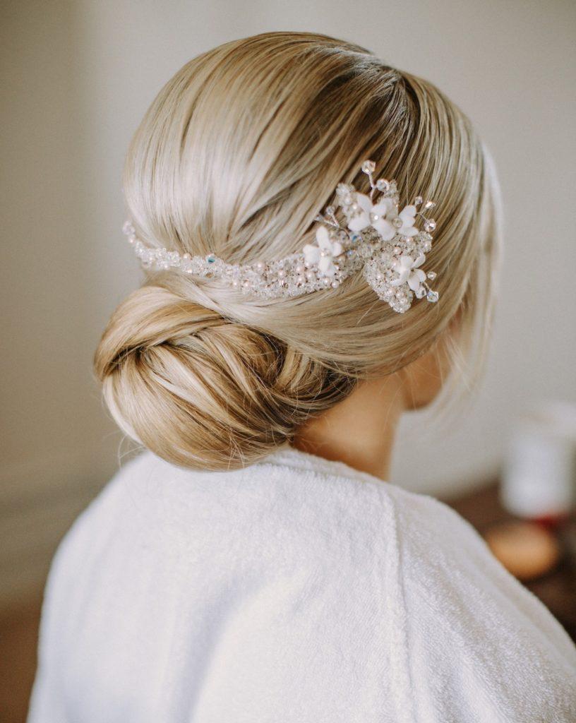 classic chignon for timeless bride