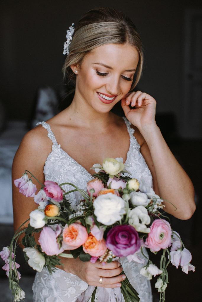 romantic peony and ranunculus bouquet