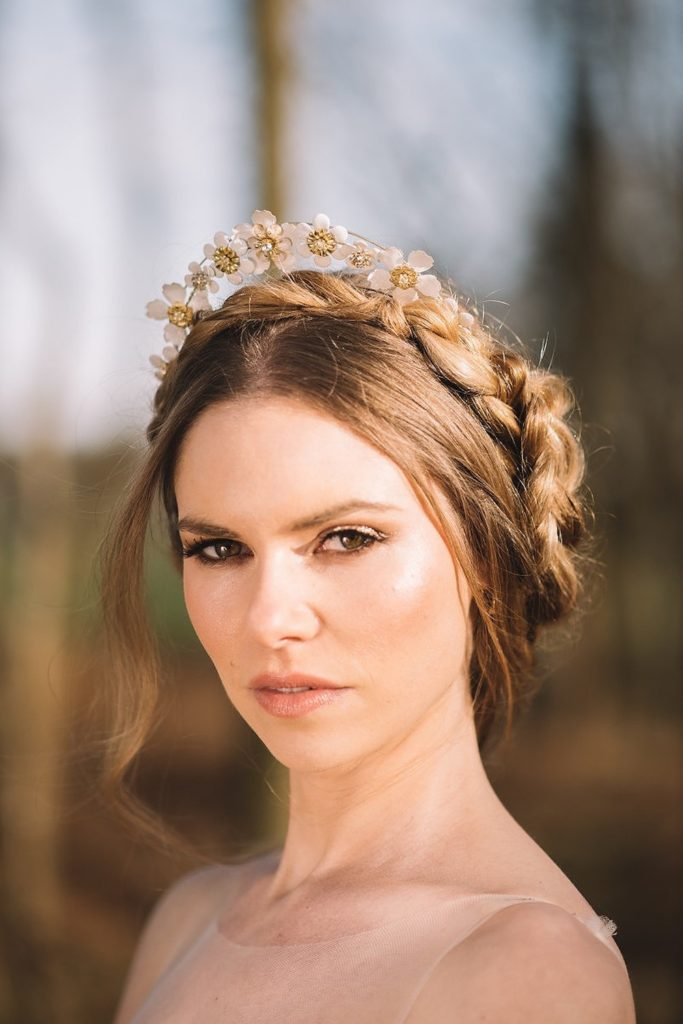 Middle Parting Bridal Hairstyles