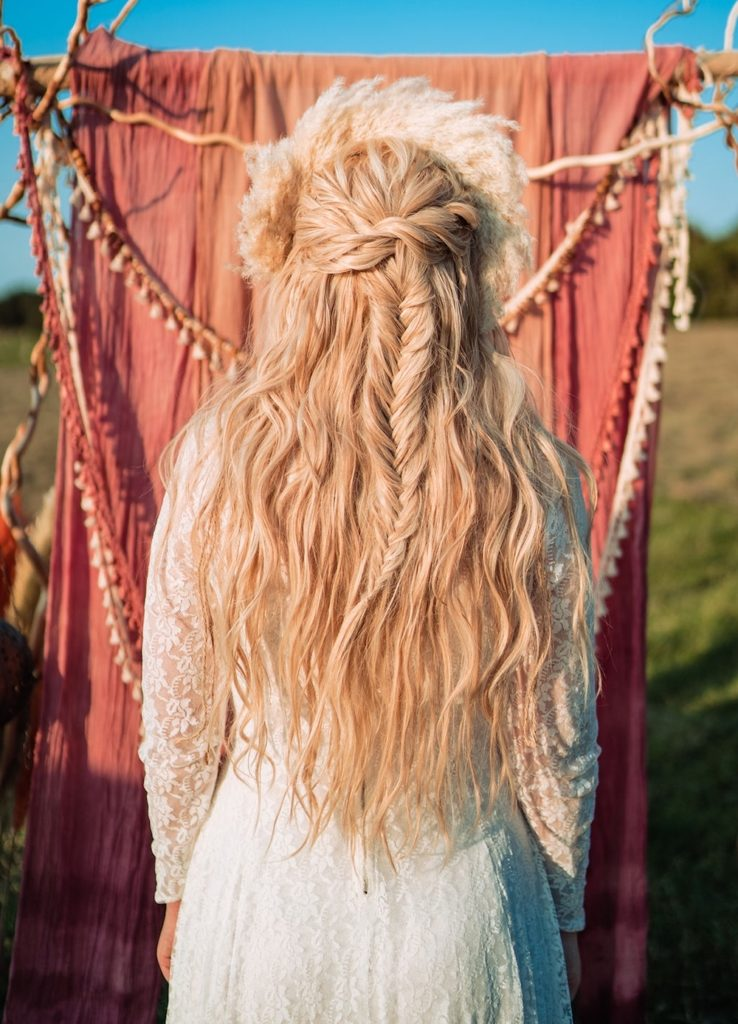 Wedding Hairstyles for Festival Brides