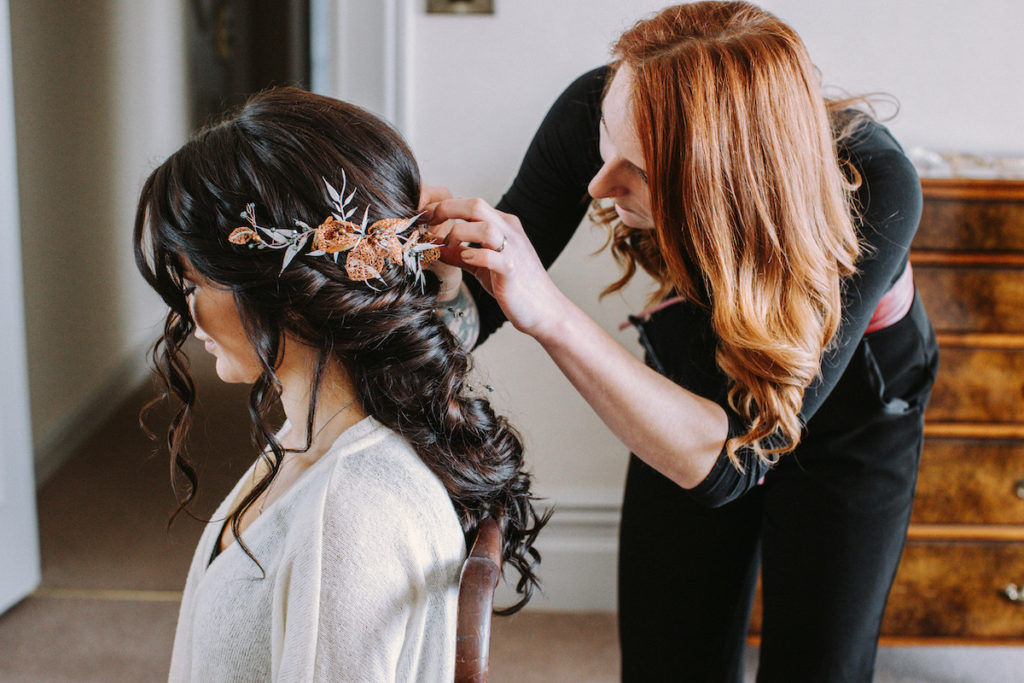 Beauty Ninjas wedding hair