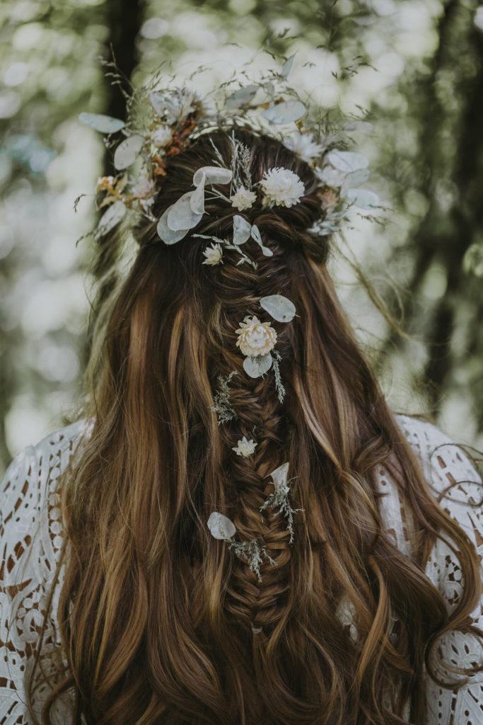 Wedding Hairstyles for Festival Brides - half up half down