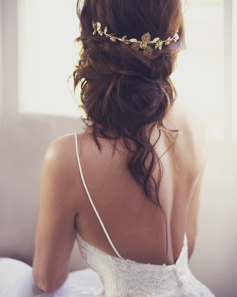 Wedding Hairstyles for Festival Brides - relaxed updo