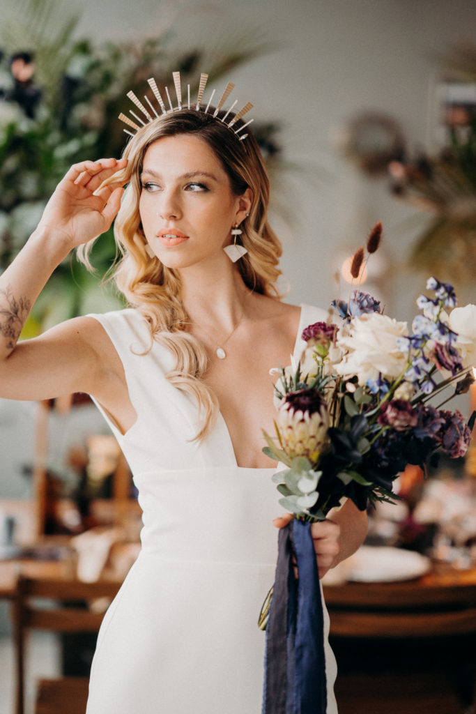 Wedding Hairstyles for Festival Brides - celestial crown